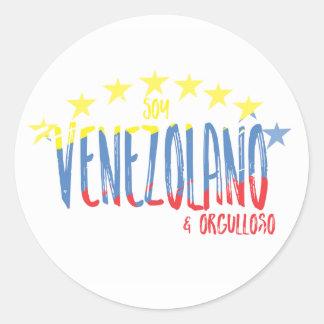 """""""Orgullo Venezolano"""" Classic Round Sticker"""
