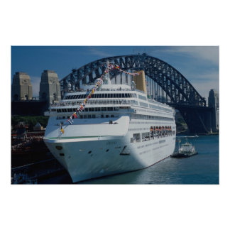 Oriana passenger liner on its maiden voyage, harbo poster