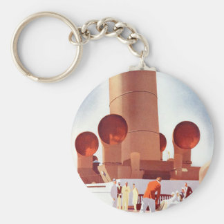 Orient Cruises Big Funnel Basic Round Button Key Ring