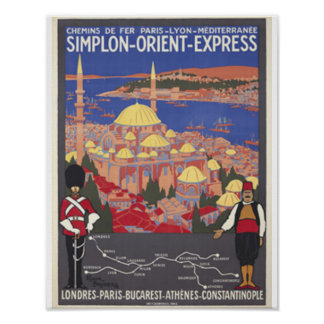 Orient Express to Constantinople Poster