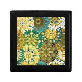 Orient mandala blue & yellow | Indian motif Gift Box