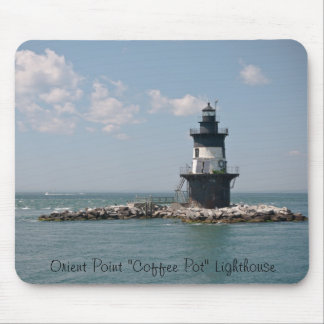 """Orient Point """"Coffee Pot"""" Lighthouse Mouse Pad"""