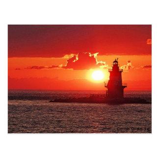 Orient Point Light at Sunset Postcard