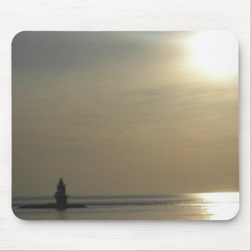 Orient Point Lighthouse Sunset 2 Mouse Pad
