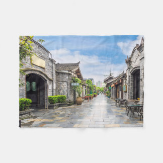 Oriental Architecture fleece blanket