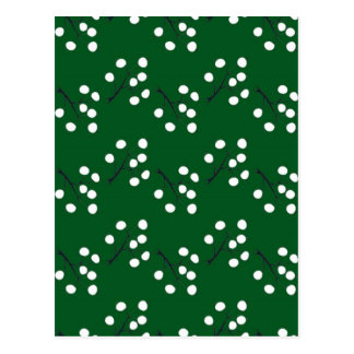 oriental berry green postcard