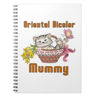 Oriental Bicolor Cat Mom Notebook