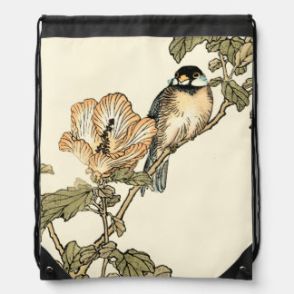 Oriental Bird Perched on Branch Backpacks