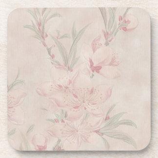 Oriental Blossoms Coaster Set