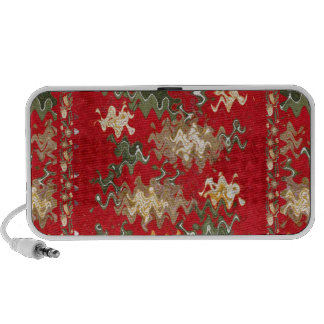 Oriental Chinese Red waves Silken Fabric Textures Portable Speakers