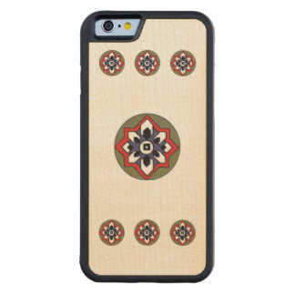 Oriental Circle Carved Maple iPhone 6 Bumper Case