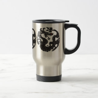 Oriental Dragon Black Travel Mug
