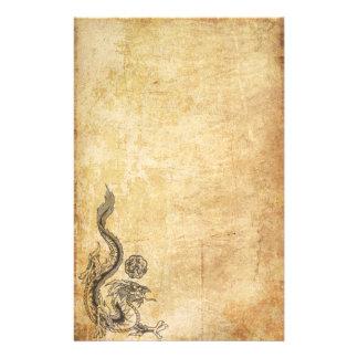 Oriental Dragon Inked Stationery
