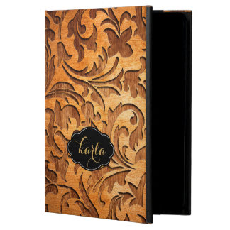 Oriental Floral Design Wood Carving iPad Air Cases
