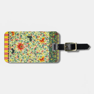 Oriental Floral Luggage Tag