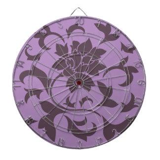 Oriental Flower - Cherry Chocolate & Lilac Dartboard With Darts