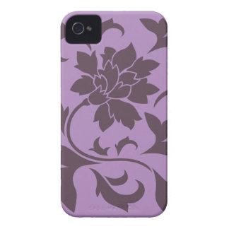 Oriental Flower - Cherry Chocolate & Lilac iPhone 4 Case