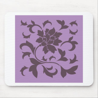 Oriental Flower - Cherry Chocolate & Lilac Mouse Pad
