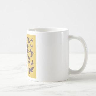 Oriental Flower - Cherry Chocolate & Mustard Coffee Mug