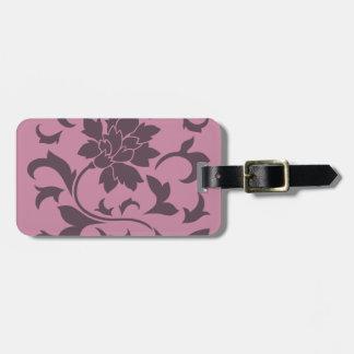 Oriental Flower - Cherry Chocolate & Strawberry Luggage Tag