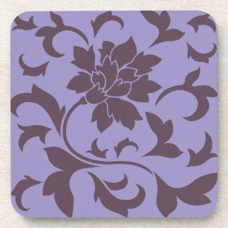Oriental Flower - Cherry Chocolate & Violet Tulip Coaster