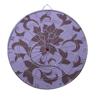 Oriental Flower - Cherry Chocolate & Violet Tulip Dartboard