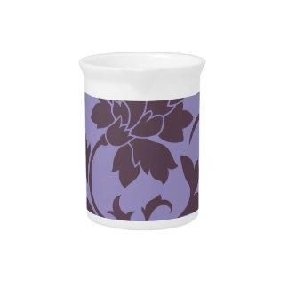 Oriental Flower - Cherry Chocolate & Violet Tulip Pitcher