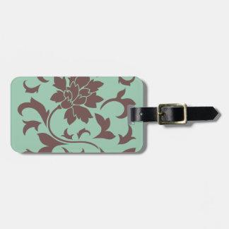 Oriental Flower - Chocolate Hemlock Luggage Tag