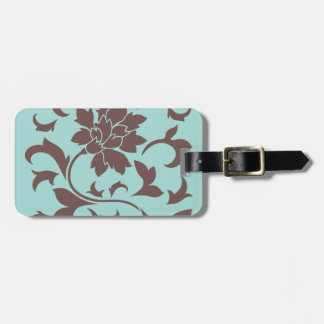 Oriental Flower - Chocolate Limpet Shell Luggage Tag