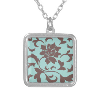 Oriental Flower - Chocolate Limpet Shell Silver Plated Necklace