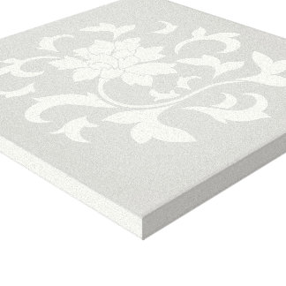 Oriental Flower-Circular-Limpet Shell Canvas Print