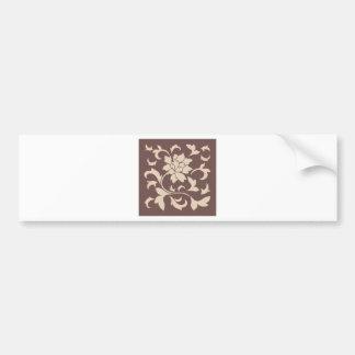 Oriental Flower - Coffee Latte Chocolate Bumper Sticker