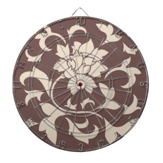 Oriental Flower - Coffee Latte Chocolate Dartboard