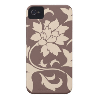 Oriental Flower - Coffee Latte Chocolate iPhone 4 Case-Mate Cases