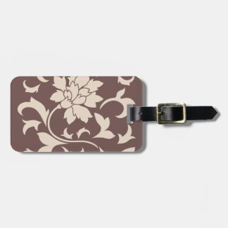 Oriental Flower - Coffee Latte Chocolate Luggage Tag
