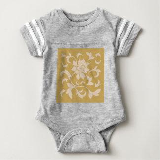 Oriental Flower - Coffee Latte & Spicy Mustard Baby Bodysuit