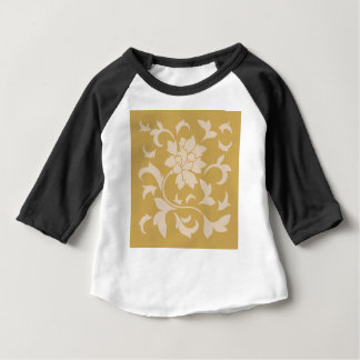 Oriental Flower - Coffee Latte & Spicy Mustard Baby T-Shirt