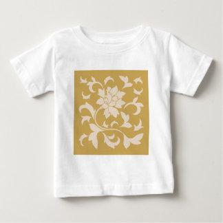 Oriental Flower - Coffee Latte & Spicy Mustard Baby T-Shirt