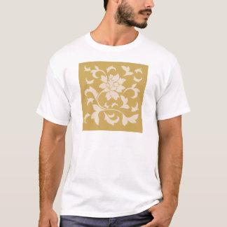 Oriental Flower - Coffee Latte & Spicy Mustard T-Shirt
