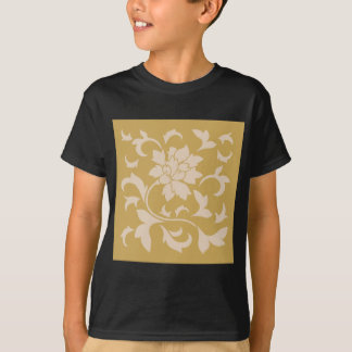Oriental Flower - Coffee Latte & Spicy Mustard T-Shirt