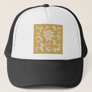 Oriental Flower - Coffee Latte & Spicy Mustard Trucker Hat