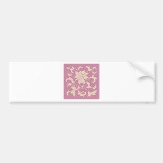 Oriental Flower - Coffee Latte & Strawberry Bumper Sticker