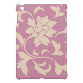 Oriental Flower - Coffee Latte & Strawberry iPad Mini Cover
