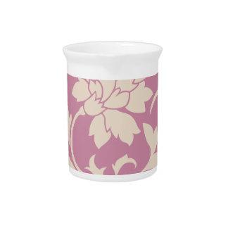 Oriental Flower - Coffee Latte & Strawberry Pitcher