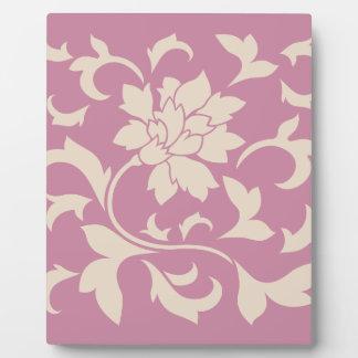 Oriental Flower - Coffee Latte & Strawberry Plaque