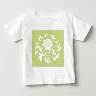 Oriental Flower - Daiquiri Green Circular Pattern Baby T-Shirt