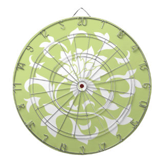 Oriental Flower - Daiquiri Green Circular Pattern Dartboard