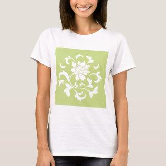 Oriental Flower - Daiquiri Green Circular Pattern T-Shirt