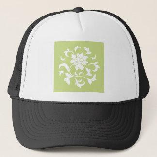 Oriental Flower - Daiquiri Green Circular Pattern Trucker Hat