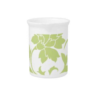 Oriental Flower - Daiquiri Green Pitcher